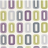 Vinylové tapety na zeď Collection retro oválky fialovo-zelené