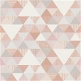 Vliesové tapety na zeď Inspiration Wall geometrický vzor moderní růžový