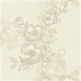 Luxusní vliesové tapety na zeď G.M.Kretschmer Deluxe květy krémové