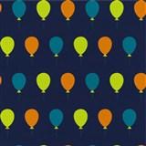 Tapety na zeď Die Maus barevné balónky na modrém podkladu
