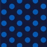Dětské tapety na zeď Die Maus puntíky modré na tmavě modrém podkladu