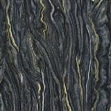 Vliesové tapety na zeď Elle Decoration mramor černo-zlatý