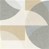 Vliesové tapety na zeď Elle Decoration geometrický vzor pastelově hnědo-šedý