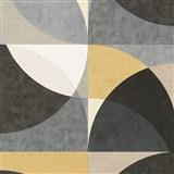 Vliesové tapety na zeď Elle Decoration geometrický vzor okrovo-šedý