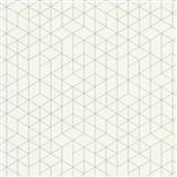 Vliesové tapety na zeď Scandinja skandinávský design bílý s šedými konturami