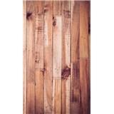Vliesové fototapety stěna z latí rozměr 150 cm x 250 cm