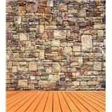 Vliesové fototapety kamenná stěna rozměr 225 cm x 250 cm