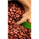 Vliesové fototapety kávová zrnka rozměr 150 cm x 250 cm