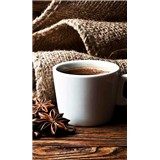 Vliesové fototapety hrníček s kávou rozměr 150 cm x 250 cm
