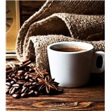 Vliesové fototapety hrníček s kávou rozměr 225 cm x 250 cm
