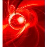 Vliesové fototapety abstrakt oranžový rozměr 225 cm x 250 cm