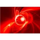 Vliesové fototapety abstrakt oranžový rozměr 375 cm x 250 cm
