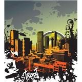 Vliesové fototapety město rozměr 225 cm x 250 cm
