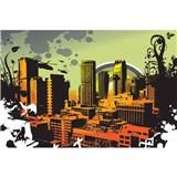 Vliesové fototapety město rozměr 375 cm x 250 cm