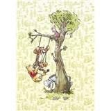 Vliesové fototapety Disney Medvídek Pú na stromě rozměr 200 cm x 280 cm