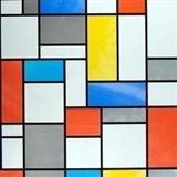 Samolepící tapety transparentní Mondriaan - 67,5 cm x 15 m