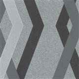 Vliesové tapety na zeď IMPOL Giulia 3D hrany černo-šedé