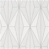 Vliesové tapety na zeď IMPOL Giulia Art-Deco vzor krémový se stříbrnými konturami