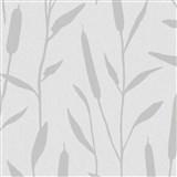 Vliesové tapety na zeď IMPOL Giulia rákos stříbrný na světle šedém podkladu