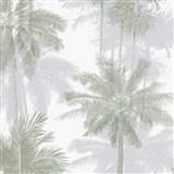 Vliesové tapety na zeď IMPOL Giulia palmy šedo-zelené