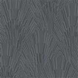 Vliesové tapety na zeď IMPOL Giulia Art-Deco vějířový vzor černo-stříbrný