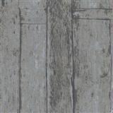 Vliesové tapety na zeď Imagine dřevěný obklad šedo-hnědý s výraznou strukturou