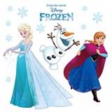 Samolepky na sklo Disney Frozen sněhové vločky rozměr 31 cm x 31 cm