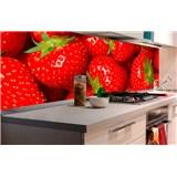 Samolepící tapety za kuchyňskou linku jahody rozměr 180 cm x 60 cm