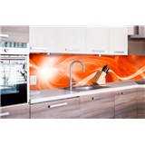 Samolepící tapety za kuchyňskou linku abstrakt oranžový rozměr 260 cm x 60 cm