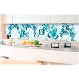 Samolepící tapety za kuchyňskou linku kostky ledu rozměr 350 cm x 60 cm