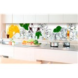 Samolepící tapety za kuchyňskou linku citron a led rozměr 350 cm x 60 cm