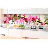Samolepící tapety za kuchyňskou linku sakura rozměr 350 cm x 60 cm