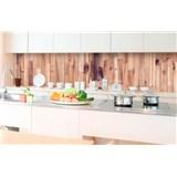 Samolepící tapety za kuchyňskou linku dřevěná prkna rozměr 350 cm x 60 cm