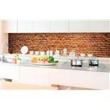 Samolepící tapety za kuchyňskou linku staré cihly rozměr 350 cm x 60 cm
