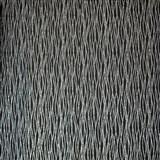 Luxusní vliesové tapety na zeď LACANTARA vlnovky stříbrné na černém podkladu