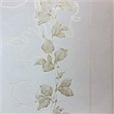 Vliesové tapety na zeď La Veneziana 3 stonky listů na světle hnědém podkladu
