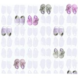 Dětské vliesové tapety na zeď Little Stars bačkůrky fialovo-růžové