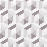 Vliesové tapety na zeď IMPOL Marbella 3D hexagon hnědý