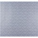 Vliesové tapety na zeď Messina kašmírový vzor malý modro-stříbrný
