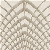 Vliesové tapety na zeď IMPOL Modernista Art Deco zlatá na hnědém podkladu