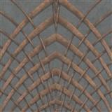Vliesové tapety na zeď IMPOL Modernista Art Deco bronzová na šedém podkladu