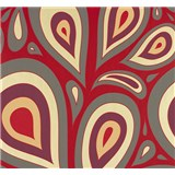 Vliesové tapety na zeď NENA kapky červené