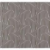 Vliesové tapety na zeď NENA 3D moderní vzor stříbrno-hnědý