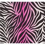Vliesové tapety na zeď NENA zebra vzor růžový