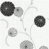 Vliesové tapety na zeď Novara květy černé