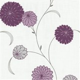 Vliesové tapety na zeď Novara květy fialové