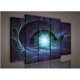 Obraz na plátně hvězdné nebe modré 150 x 100 cm