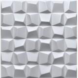 3D panel XPS SQUARED bílý rozměr 50 x 50 cm