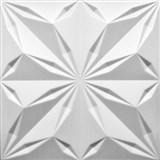 3D panel XPS STAR bílý rozměr 50 x 50 cm