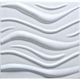 3D panel XPS WAVE bílý rozměr 50 x 50 cm (vlnovka velká)